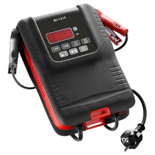"BC1215 - Fast battery charger 12 Volts 15 Amperes for 12V LV, LCV, HGV. ""SHOWROOM"" mode"