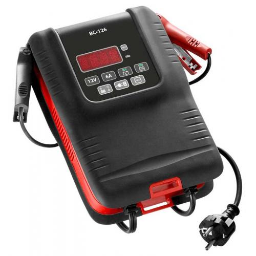 BC126 - Fast battery charger 12 Volts 6 Amperes for LV, LCV and motorcycles