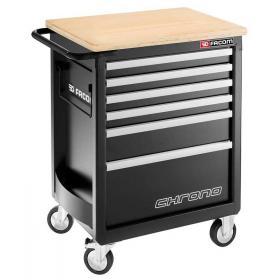 CHRONO.6GM3HD - wózek 8 szuflad - wersja wzmocniona, czarny