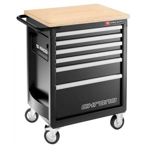 CHRONO.6GM3HD - wózek 6 szuflad, 3 moduły na szufladę - gama bezpieczna, wzmocniona, czarny