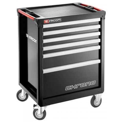 CHRONO.6GM3A - wózek 6 szuflad, 3 moduły na szufladę, czarny
