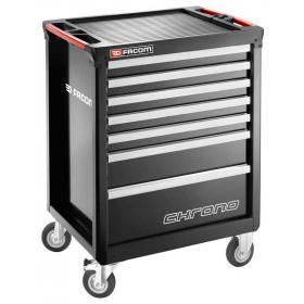 CHRONO.7GM3A - wózek 7 szuflad, czarny