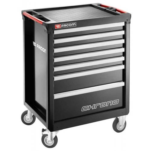 CHRONO.7GM3A - wózek 7 szuflad, 3 moduły na szufladę, czarny