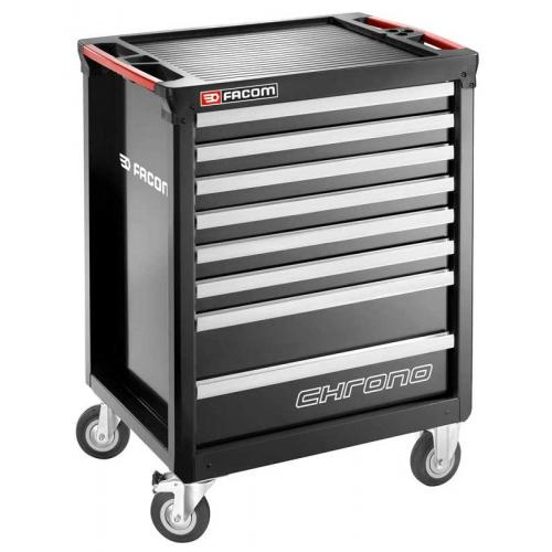 CHRONO.8GM3A - wózek 8 szuflad, 3 moduły na szufladę, czarny
