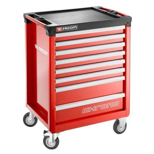 CHRONO.8M3A - wózek 8 szuflad, 3 moduły na szufladę, czerwony