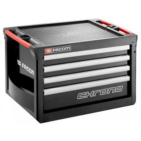 CHRONO.C4GM3A - skrzynia 4 szuflady, czarna