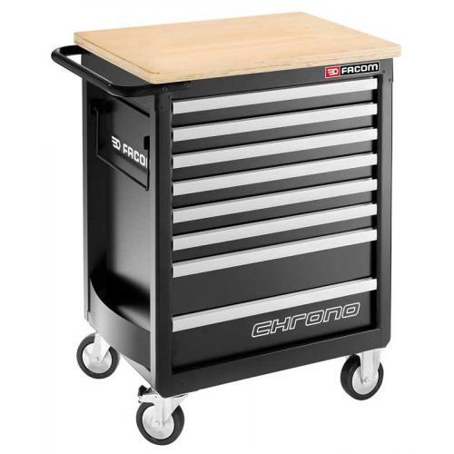 CHRONO.8GM3HD - wózek 8 szuflad, 3 moduły na szufladę - gama bezpieczna, wzmocniona, czarny