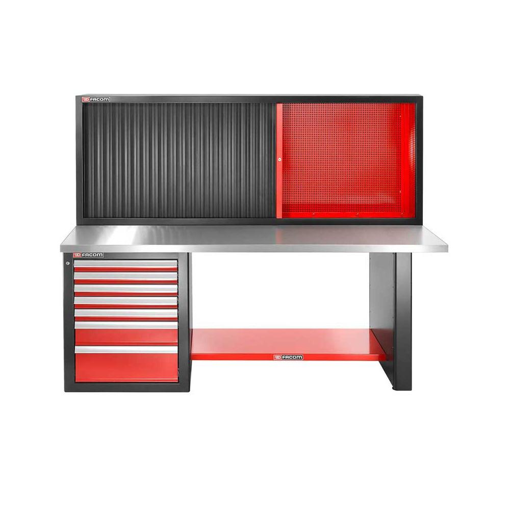 Stupendous Jls2 2Ms7Dscl Workbench 2M Metal Worktop With Cabinet Jls2 Mhtr Low Version Facom Com Pl Uwap Interior Chair Design Uwaporg