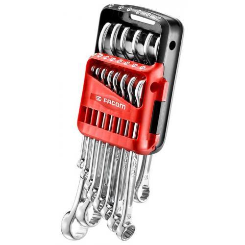440.JP14 - Zestaw kluczy oczkowo-płaskich, 7 - 24 mm