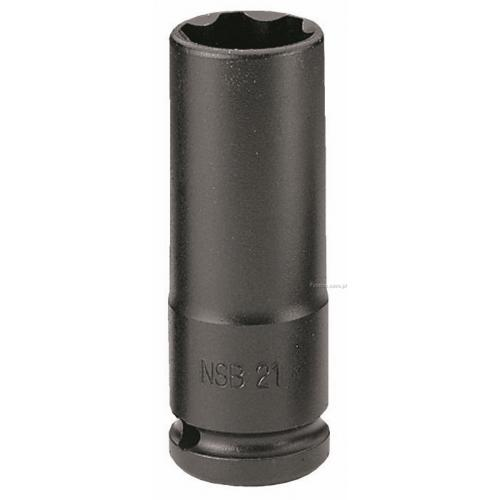 "NSB.21 - nasadka 1/2"" 6-kątna cienkościenna, udarowa, 21 mm"