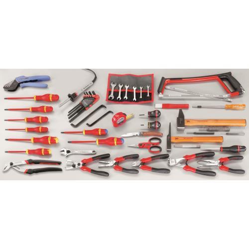 CM.E15 - zestaw 59 narzędzi dla elektryka – metrycznych