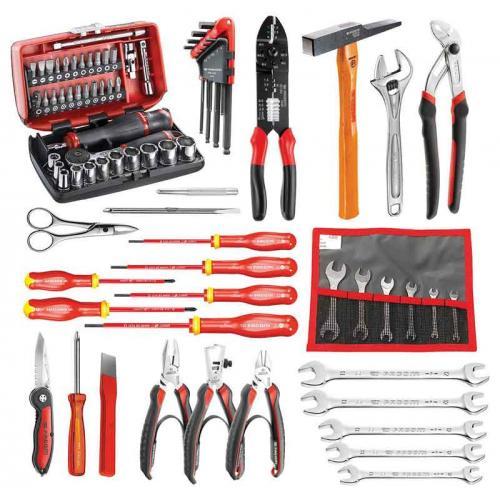CM.E16 - zestaw 76 narzędzi dla elektronika – metrycznych