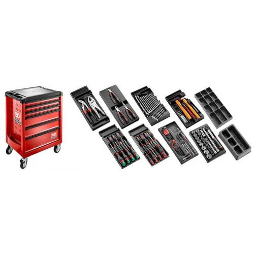 CM.118 - Zestaw 118 narzędzi do mechaniki ogólnej, wózek z 6 szufladami
