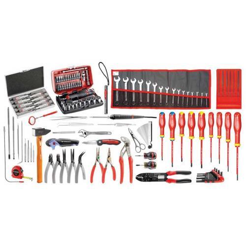 CM.EM41A - zestaw 120 narzędzi serwisowych do elektromechaniki