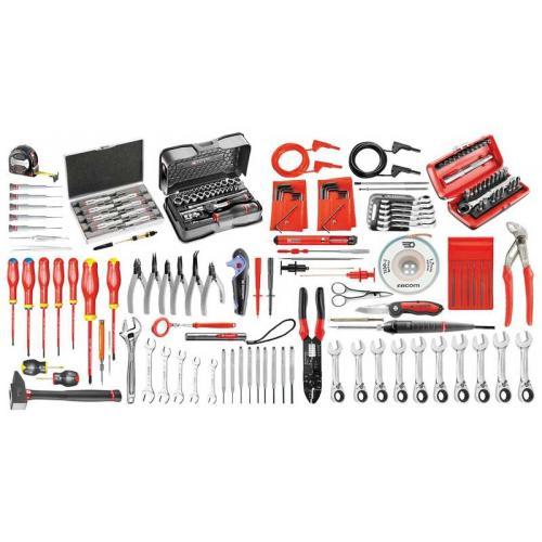 CM.EL35 - zestaw 146 narzędzi dla elektryków – metrycznych i calowych