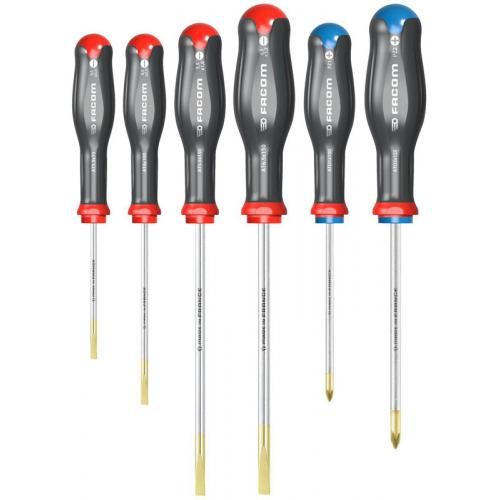ATD.J6 - Set of Protwist® screwdrivers for slotted head screws, Pozidriv®, 3.5 - 6.5 mm i PZ1 - PZ2