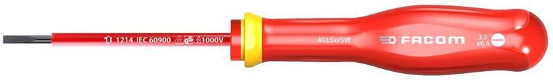 Facom AT2.5X75 hoja avellanada Torneviss PROTWIST/® para tornillos de ranura