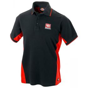 VP.POLOBLK-L - BLACK RED POLO SIZE L