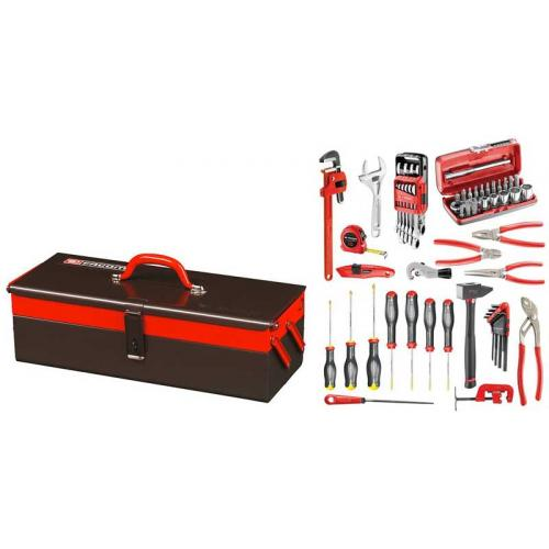 BT6A.M200A - CM.200A tools set with a metal toolbox BT.6A