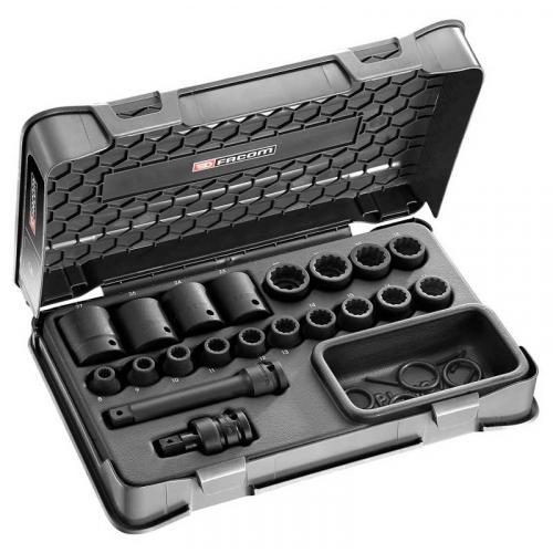NSD.500A - 1/2' IMPACT SOCKET SET 12P 8-27MM
