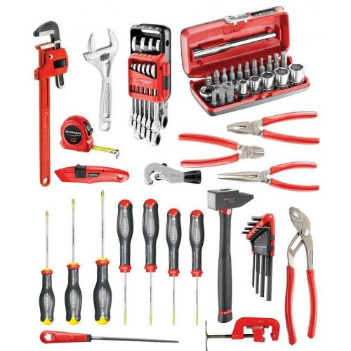 CM.200A - 67-piece set of plumbers tools