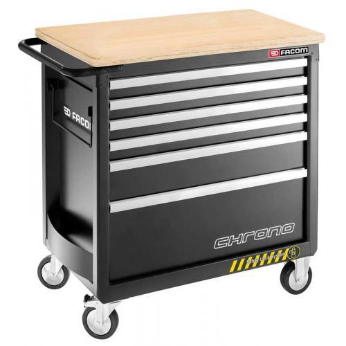 CHRONO.6GM4HD - wózek 6 szuflad, 4 moduły na szufladę - gama bezpieczna, wzmocniona, czarny