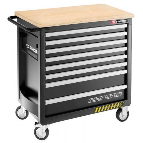 CHRONO.8GM4HD - wózek 8 szuflad, 4 moduły na szufladę - gama bezpieczna, wzmocniona, czarny