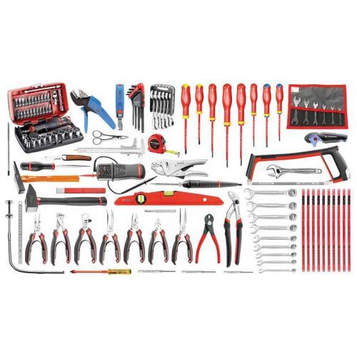 CM.E18 - zestaw 120 narzędzi dla elektryka – metrycznych