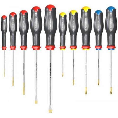 ATW.J10PB - Zestaw 10 wkrętaków Protwist® do śrub z rowkiem i śrub krzyżakowych Pozidriv®, Phillips®