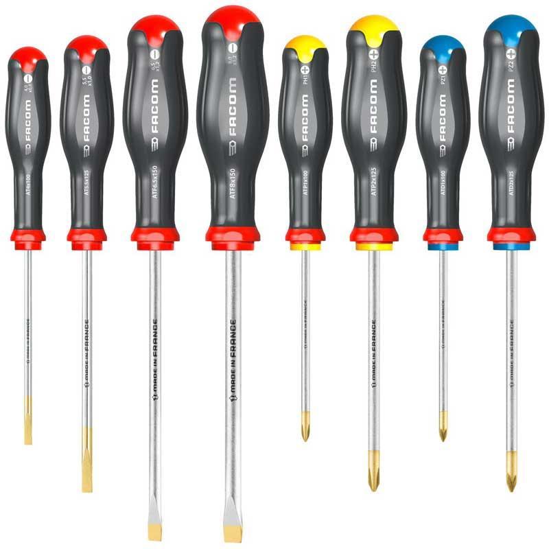 AT.J8PB - Zestaw 8 wkrętaków Protwist® do śrub z rowkiem i śrub krzyżakowych Pozidriv®, Phillips®