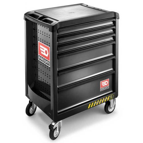 ROLL.6GM3S - wózek ROLL, 6 szuflad, 3 moduły na szufladę, czarny