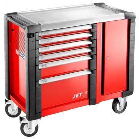 JET.T6M3 - ruchome stanowisko pracy JET+, 6 szuflad, 3 moduły na szufladę, czerwone