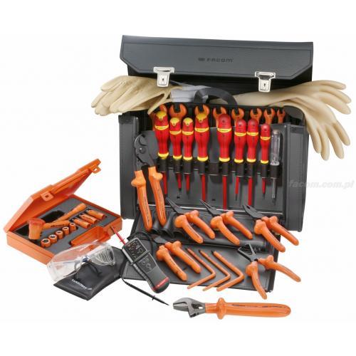 2187C.VSE - zestaw 40 narzędzi izolowanych w torbie skórzanej