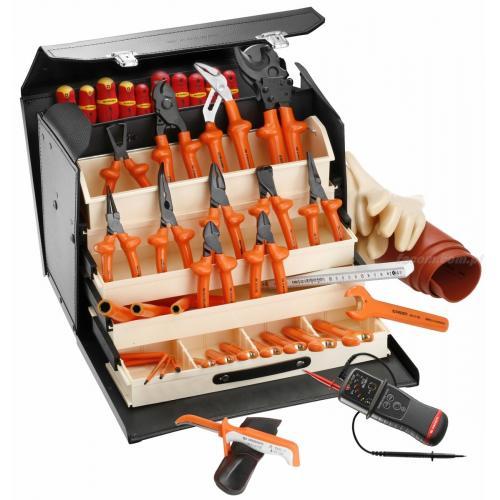 2184C.VSE - zestaw 40 narzędzi izolowanych w torbie skórzanej