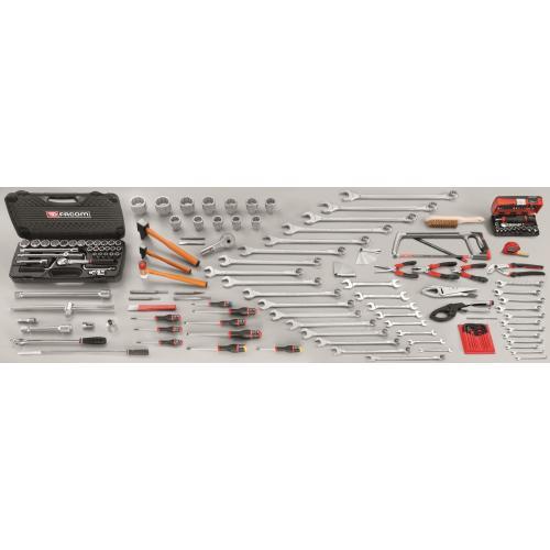 CM.V9 - zestaw 174 narzędzi do obsługi maszyn budowlanych i rolniczych