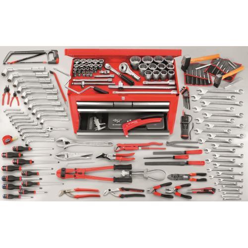 2174.MAG5 - zestaw 160 narzędzi metrycznych w skrzynce narzędziowej BT.66