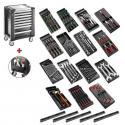 SPOTLIGHT15PKWG - wózek warsztatowy z wyposażeniem, 15 modułów, czarny