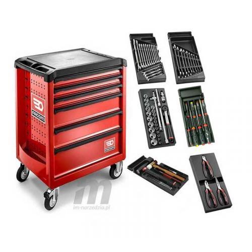 SL.ROLL.6M3 - wózek roll z wyposażeniem, czerwony