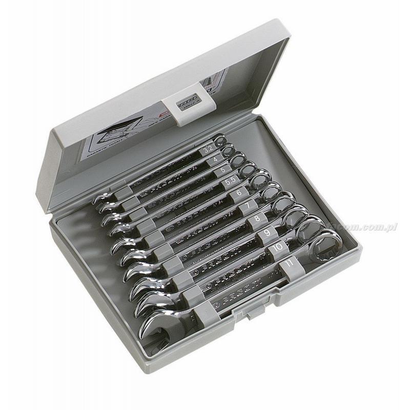 39.JE10 - zestaw 10 kluczy oczkowo-płaskich krótkich Micro-Tech®, 3,2 - 11 mm
