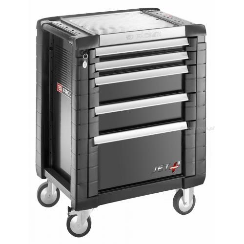 JET.5GM3 - wózek JET+, 5 szuflad, 3 moduły na szufladę, czarny