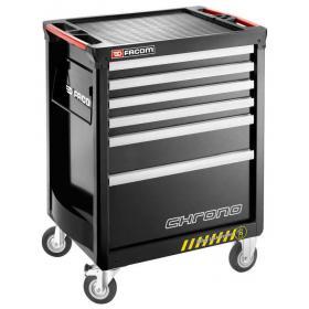 CHRONO.6GM3AS - wózek 6 szuflad, 3 moduły na szufladę, czarny