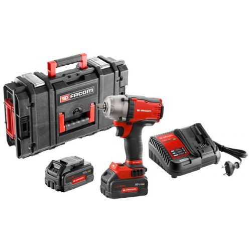 """FCF894P2-QW - Set: 1/2"""" Compact torque impact wrench 18 V, 5.0 Ah, 813 Nm, 2x batteries and charger, in case"""