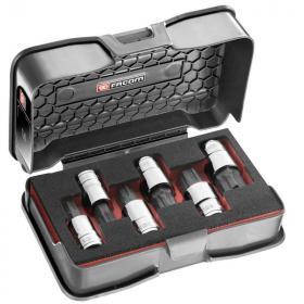 """STM.J6MGRPPB - zestaw nasadek trzpieniowych 6-kątnych OGV® GRIP 1/2"""" w kasecie, 10 mm - 19 mm"""