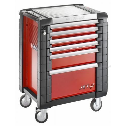 JET.6M3 - wózek JET+, 6 szuflad, 3 moduły na szufladę, czerwony