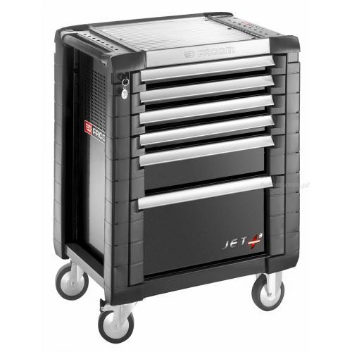JET.6GM3 - wózek JET+, 6 szuflad, 3 moduły na szufladę, czarny