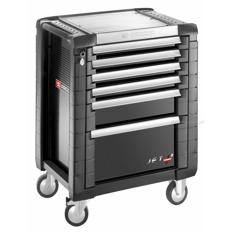 Wózek JET+ 6 szuflad - 3 moduły na szufladę