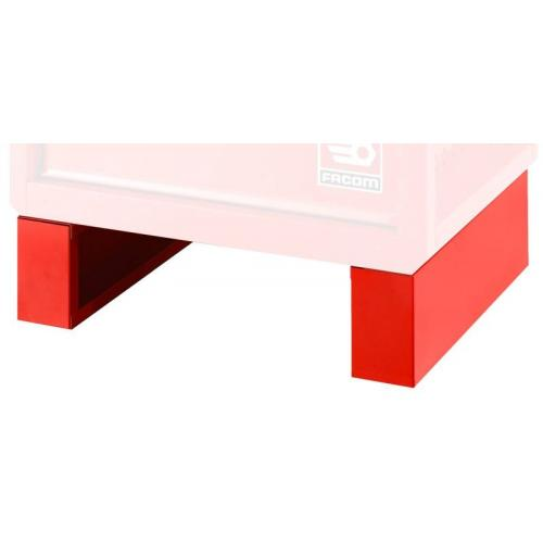 RWS-FEET - Set of 2 raising base, height from 842 to 1006 mm, red