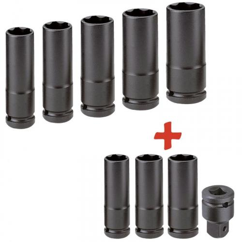 "NSB.PB - 1/2"" & 3/4"" Impact socket set, 13 - 32 mm"