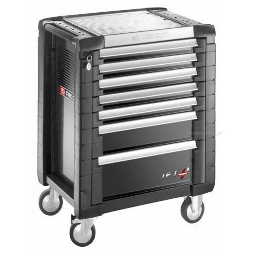 JET.7GM3 - wózek JET+, 7 szuflad, 3 moduły na szufladę, czarny