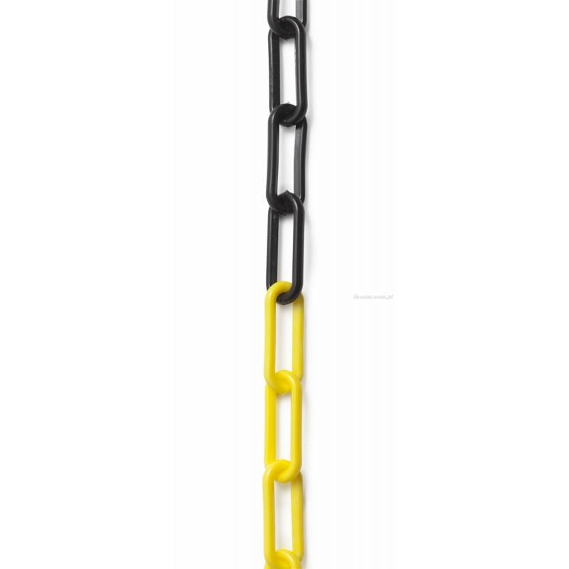 EV.CH - łańcuch do wygradzania stref chronionych - ogniwa czarne i żółte, 25 m
